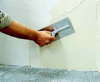 Изоляция стен теплой штукатуркой.